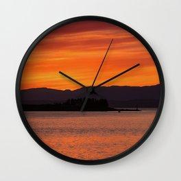 Sundown over Oban Bay Wall Clock