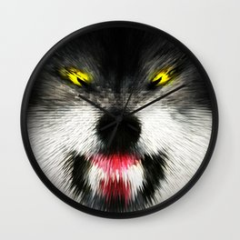 MAD WOLF Wall Clock