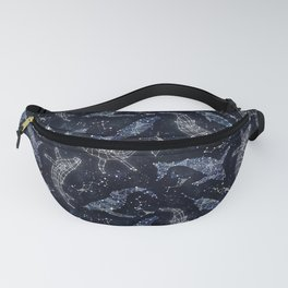 Whale constellations Fanny Pack