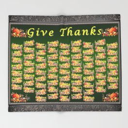 Give Thanks Throw Blanket
