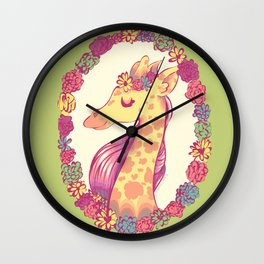 Lovely Giraffe 2 Wall Clock