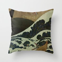 """""""Shipwreck from Sinbad the Sailor"""" by Edmund Dulac Throw Pillow"""