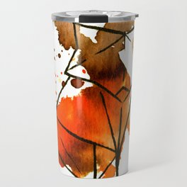 Origami: Fox (brown) Travel Mug