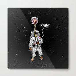 Giraffe astronaut Metal Print