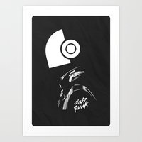 daft punk Art Prints featuring Daft Punk by Artisto Designz