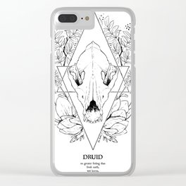 Plant Secrets: Druid class Clear iPhone Case