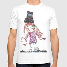 Magician MEDIUM White Mens Fitted Tee