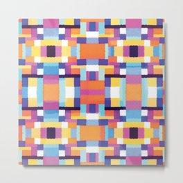 Pixel pattern  Metal Print