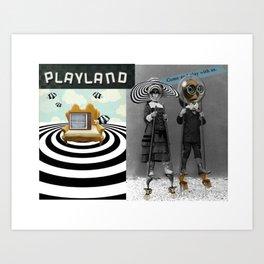 _PLAYLAND Art Print