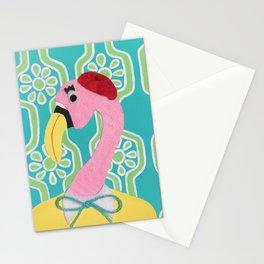 Phyllis Flamingo Stationery Cards