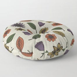 Fall Floral Pattern (OATMEAL) Floor Pillow