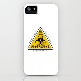 Final Warning iPhone Case