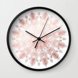 Dancing Mandala Rose Gold Wall Clock