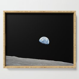 Apollo 8 - Iconic Earthrise Photograph Serving Tray