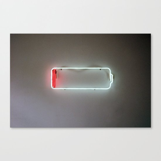 Low-Battery Canvas Print