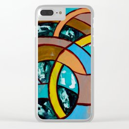 Composition #8 by Michael Moffa Clear iPhone Case