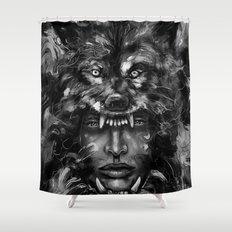 Empress Wolf Shower Curtain