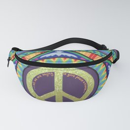 Give Peace a Chance Mandala Fanny Pack