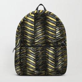 Alien Columns - Black and Gold Backpack