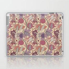 Seven Species Botanical Fruit and Grain in Mauve Tones Laptop & iPad Skin