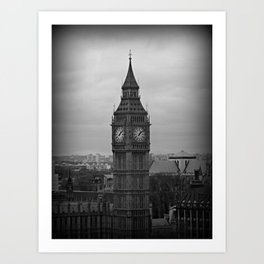 Big Ben Black + White Art Print