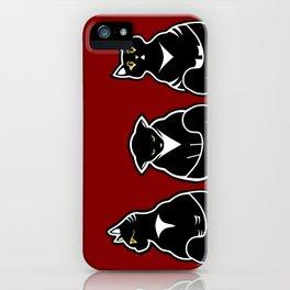 Three not so friendly kitties iPhone Case