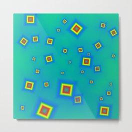 Pattern of disorganized multicolored paintings Metal Print
