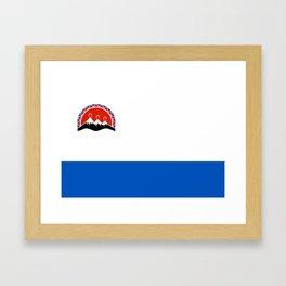 kamchatka flag Framed Art Print