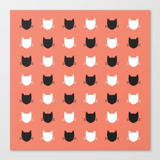 Cat Pattern 02 Canvas Print