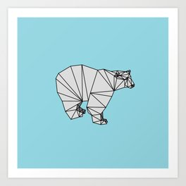 Geometric Polar Bear Art Print