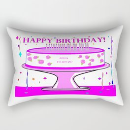 A Your Special Day Birthday Cake in Pink Shades Rectangular Pillow