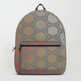 Hexagonal Dreams - Orange Gradient Backpack