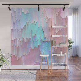 Pastel Glitches Fall Wall Mural