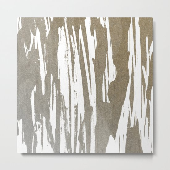 Abstract Taupe Splash Design Metal Print