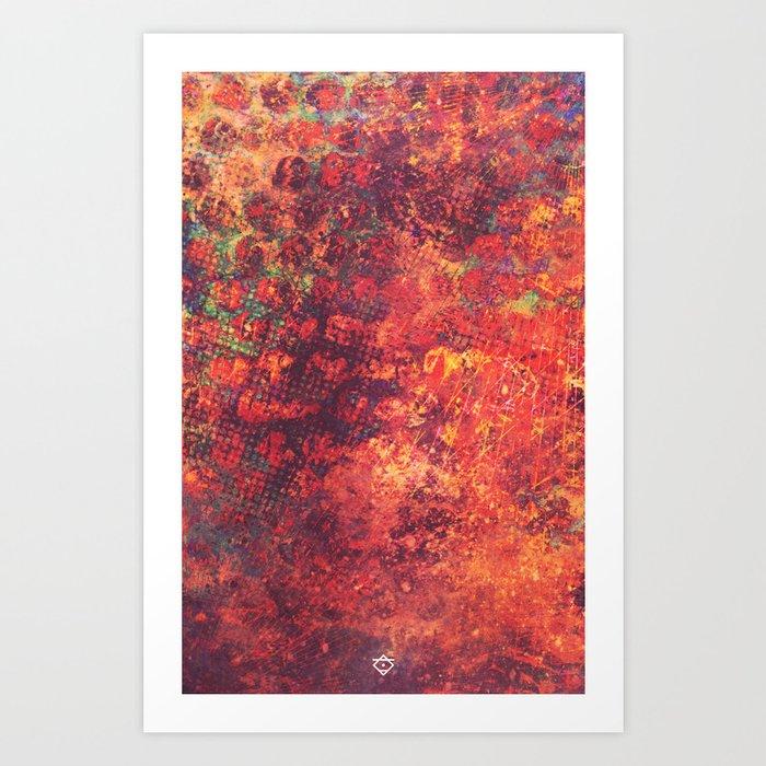Scraped Art Print