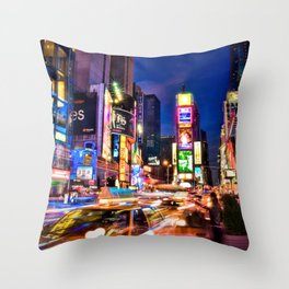 You Will Never Forget: Times Square, New York City Throw Pillow