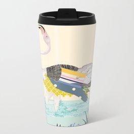 dancing flamingo Metal Travel Mug
