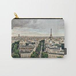 Eiffel Tower + Paris Skyline Carry-All Pouch