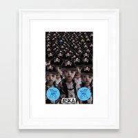 mass effect Framed Art Prints featuring Mass Effect by LOSKA