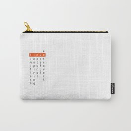 Linux - limitless, inspiring, natural, useful, extrovert - horizontal Carry-All Pouch