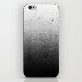 Black Ombre Concrete Texture iPhone Skin