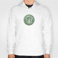starbucks Hoodies featuring Starbucks Junkee by Snorting Pixels