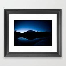 Mt Rainier @ Sunset Framed Art Print