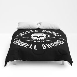 Coffee Chugs And Barbell Shrugs Comforters