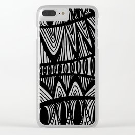 Original Creative black and white pattern illustration Clear iPhone Case