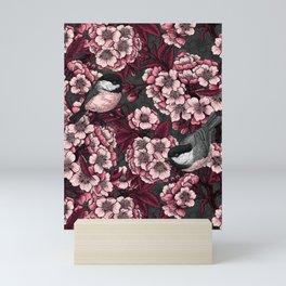 Night cherry garden Mini Art Print
