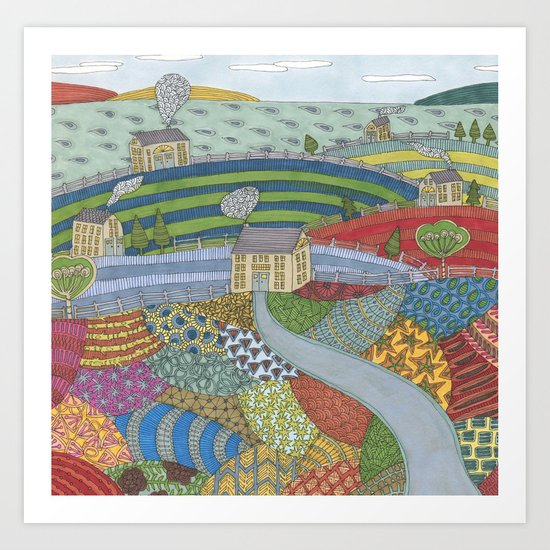 island patchwork Art Print