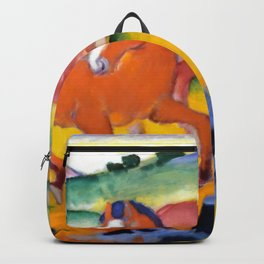 """Franz Marc """"Grazing Horses IV (The Red Horses)"""" Backpack"""
