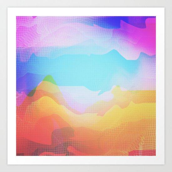 Glitch 18 Art Print