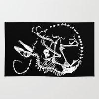bouletcorp Area & Throw Rugs featuring Deinonychus by Bouletcorp